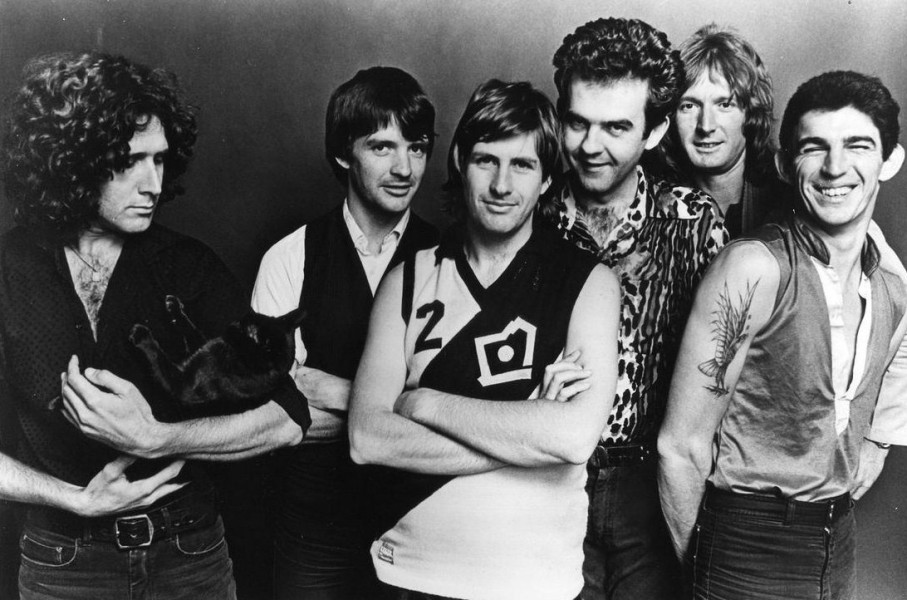 Dave (centre) back in the day with band in WA